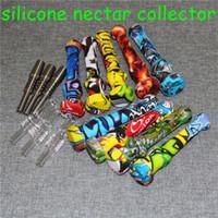 Silicone Nectar Collector con titanio Tips Nail Tips NarchAhs Container Reclaimer NECTOR Kit da collezione per utensili da fumo tubo di silicio