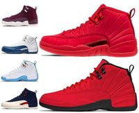 9fd0b842e20c2b New Gym Red 12 12s Mens Basketball Shoes Bulls Bordeaux flu game College  Navy TAXI the master Playoffs PSNY Michigan Sports Sneakers 7-13