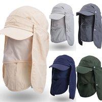 Collo Uomini parasole pesca cappello esterno traspirante campeggio d'escursione Protezione UV coprire il volto cappello della visiera cappelli di baseball LJJO7668