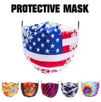 American National Flag Mask 6 Styles 3D Printed Waschbar Antistaub Haze PM2.5 Outdoor Radsport Gesichtsmasken OOA7982