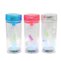 휴대용 물 담뱃대 세트 아크릴 물 담뱃대 shisha chicha narguile nargile 아크릴 플라스틱 흡연 워터 파이프 LED 라이터 유리 흡연 파이프 오일 장비