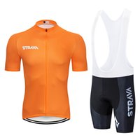 high quality strava team Cycling short sleeve Jersey sets Su...