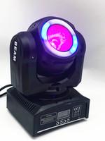 Мини водить 60W мобильный луч с Halo RGBW эффект 4в1 луч света перемещение головы огни супер яркий LED DJ управления DMX света