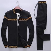 Moda-Eşofman Erkekler Eğlence Spor Takım Elbise Lüks erkek Spor Marka tasarım Jogging Yapan Set Serin Kazak ücretsiz kargo