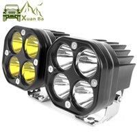 XuanBa 3-Zoll-LED-Arbeitslicht 12V 24V für Auto-Gelb-Nebel-Lampen 4x4 Offroad-Motorrad-Traktoren treibende Lichter White Square Spotlight