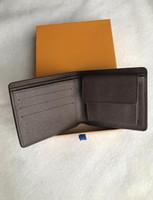 6 colori raccoglitore di marca del cuoio breve raccoglitore degli uomini del progettista con la scatola, sacchetto di polvere telaio manuale Una varietà di stili 2020