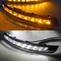 1 par LED Car DRL virar amarelo Signal relé luz de circulação diurna Luz Daylight Nevoeiro Para Volvo XC90 2007 2008 2009 2010 2011 2012 2013