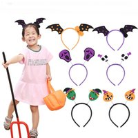 Pipistrelli Halloween Pumpkin fascia 6 disegni Halloween Party Hairband Halloween Dance Performance Copricapo 6 Pezzi ePacket