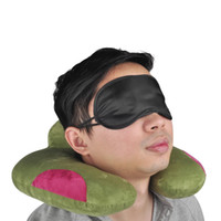 (en stock) Black Eye Mask Polyester Sponge Shade Nap Cover Blindfold Mask para dormir Travel Soft Polyester Masks 4 capas DHL libre