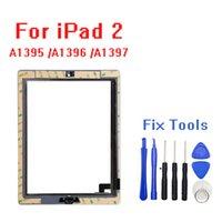 iPad 2 터치 스크린 유리 디지타이저 교체 + 홈 버튼 + 접착 + 카메라 + A1395 A1396 A1397 어셈블리