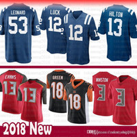 New Arrival. Indianapolis Colts 12 Andrew Luck 13 T.Y. Hilton 53 Darius  Leonard Jersey Tampa Bays Buccaneer 3 Jameis Winston Evans Bengals 18 A.J.  Green 3ad4c63fa