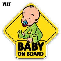 YJZT 14. 7*14. 7CM Car Sticker Lovely Cartoon BABY ON BOARD Co...