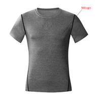 tshirts formação activa esporte de combate de basquete de futebol HOT Verão 2020 magro elástico musculação Pro GYM collants camisa curto da luva t homens