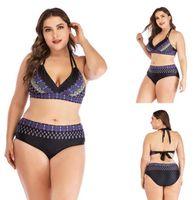 TOP Frauen-Mädchen-Dame-Frauen große fette Plus gedruckt schlank sexy ein Stück flacher Winkel Rock Bademoden yakuda flexible stilvolle Bikini Sets Online