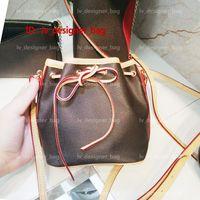 حقائب اليد الترا M41346 الجلود دلو المحافظ الكلاسيكية المؤنث crossbody حقائب النساء الكتف مصغرة نو نانو عارضة أكياس 41346 GFBH
