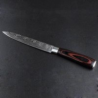5inch durevole Coltello da cucina Chef Coltello Damasco acciaio inossidabile Coltelli da cucina maniglia di legno Sharp Cleaver Slicing regalo delle lame DBC DH1478