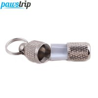 1pc Pet Dog Tag Anti Lose Address Name ID Tag Collar Barrel ...