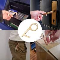 No Touch Open защитного инструмент Пресс Лифт Кнопка ящик Ручка дверь помощник инструмента безопасности Бесконтактный цинковый сплав HHA1276