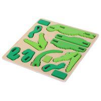 لطيف الحيوان خشبية 3d لغز لعب للأطفال الطفل التعلم المبكر للأطفال الاستخبارات التعليمية لعبة الكرتون الخشب ، كرو