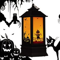 BRELONG Halloween Outdoor Decoration Festival Lights Big Ghost Pumpkin castle Flame Lantern Indoor Lighting Warm White