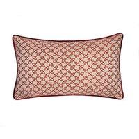 Beige Rojo Textura moderna Jacquard pequeñas cadenas de moda del amortiguador del caso sofá de la silla del hogar del regalo almohada lumbar cubre 30x50 cm Venta por la PC