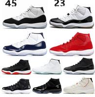 best service 37374 ee03f Nuevo Concord número 45 11 11s zapatos de baloncesto para hombre PLATINUM  TINT Gamma blue Space