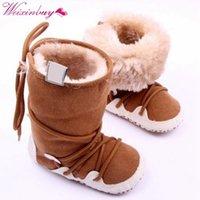 Оптовая Новорожденный Снегоступы Мягкий Малыш Младенческой Зима Теплая Флис Пинетки Обувь