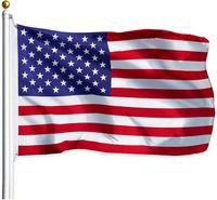 Новый 100% полиэстер 3х5 FTS 90 * 150см США Канада Германия Великобритания Франция Испания Италия национальный флаг для украшения DHL бесплатно
