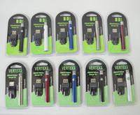 Vertex Vape Battery Caricabatterie USB Kit 350mAh 510 Thread Thread Preriscaldamento vaporizzatore Batteria E Sigarette Penna VV Penna VV per cartucce di atomizzatori