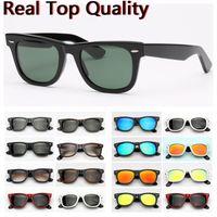 Designer Sunglasses Ray Marca Farer Modelo 2140 Acetate Frame Real UV400 Lentes De Vidro Lentes Sun Óculos De Couro Original Caixa De Couro Pacotes Tudo!