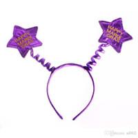 Halloween Gift Cute Children Princess Star Hoop Karnawał Głowy Przycisk Błękitne Motyl Hair Hoops Ozdoby Włosów Pet Party Decoration 2 3Wh A1