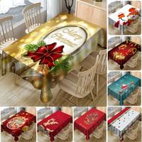테이블을 덮고 새해 크리스마스 3D 인쇄 방수 전체 폴리 에스터 식탁보 크리스마스 장식 홈 테이블 커버 (13) 스타일 WX9-1728