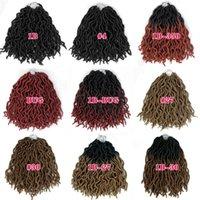 vmae boho 여신 locs 합성 스트레이트 1B 버그 12 인치 가짜 locs 18 크로 셰 뜨개질 머리 유럽 미국 블랙 짠 머리카락