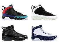 с коробкой 2019 Мужская баскетбольная обувь 9S для мужчин Кроссовки City of Flight Bred University Blue Dream it Do it Размер US7-13