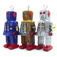 NB Cartoon Tinplate Retro Wind-Up Verärgerter Roboter, Aufziehspielzeug, Augen Kann Funken, Nostalgisch Ornament, Kindergeburtstags-Weihnachtsgeschenk, Collect, MS403,2-1