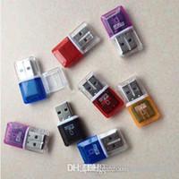 HK Высокоскоростной кристалл прозрачный USB 2.0 TF Flash T-Flash Memory Micro SD-карт-карт-адаптер для 2 ГБ 4 ГБ 8 ГБ 16 ГБ 32 ГБ 64 ГБ TF Card
