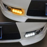 1 Set per Mitsubishi Lancer EX 2009 2010 2011 2012 2013 2014 fendinebbia 12V LED DRL di marcia diurna caso di luce