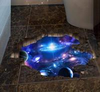 Adhesivos de pared Galaxy 3D Space Pared Pegatinas- mágicas suelo - Mural extraíbles Decoraciones para niños dormitorio de techo Sala Vivero