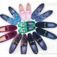 Женская дизайнерская обувь Меховые туфли Мокасины Туфли бездельников 100% животные натуральная кожа Princetown Металлические цепные кожаные тапочки с коробкой US 11.5