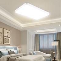72W 울트라 얇은 LED 천장 조명 LED 천장 조명 간단한 현대 직사각형 거실 샹들리에 침실 홈 통로 발코니 램프