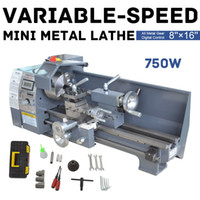 110V 220V 750W Variable Speed ​​Metal Mini tornio da banco con lo schermo digitale Pannello di legno mini del metallo tornio