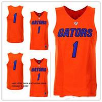 مخصص # 1 Florida Gators كلية رجل النساء الشباب الفانيلة كرة السلة الحجم S-5XL أي رقم الاسم