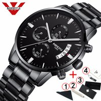 NIBOSI Mens Watches Top Business Chronograph Men Watch Stain...