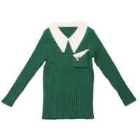 Shirt Collar Christmas Sweater for Girls Sweaters Kids Purpl...
