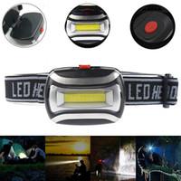 مصغرة COB مصابيح الأمامية 3 طرق مشرق انخفاض SOS LED العلوي العلوي محمول قابل للتعديل شعلة مصباح يدوي