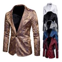 Мужчины повседневный slim fit стильный Англия стиль пиджак официальный одна кнопка костюм Blazer пальто куртка топы s-ХХL
