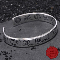 100% S925 sterling silver bracelet personality simple jewelry retro fashion love styling student birthday hot sale 2019 Bangles