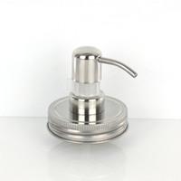 Großhandel Schraube Shampoo Flasche Seife Edelstahl Silber Einmachglas (ohne Glas) Deckel Glas Lotion Dispenser Pump