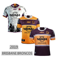 2019 BRISBANE BRONCOS JERSEY RUGBY HOME AWAY ANZAC JERSEY RUGBY taille S-3XL Top qualité livraison gratuite