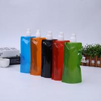 Bolsas de agua plegables ultraligeras portátiles Botella de matraz suave Deporte al aire libre Senderismo Camping Bolsa de agua Capacidad 480ml-500ml EEA242